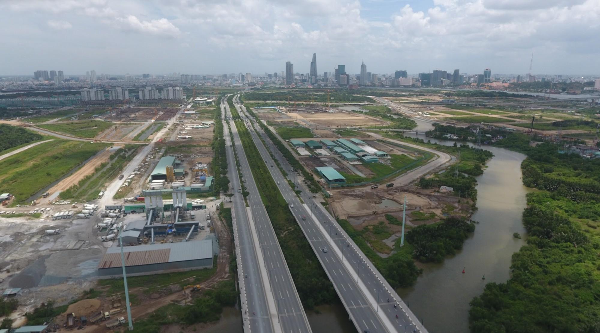 Diện mạo bán đảo Thủ Thiêm - khu đô thị đẹp nhất Sài Gòn nhìn từ trên cao - Ảnh 9.
