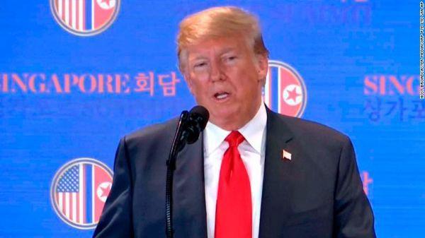 Ông Trump họp báo sau thượng đỉnh: Không giảm quân ở HQ, có thể hủy tập trận - Ảnh 1.