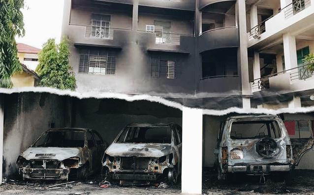 Xử lý nghiêm đối tượng quá khích châm lửa đốt ô tô ở Bình Thuận