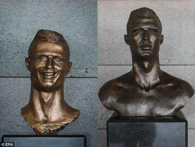Lao ra khỏi chiếc xe buýt, Ronaldo thực hiện một cử chỉ làm 'đốn tim' hàng triệu CĐV 5