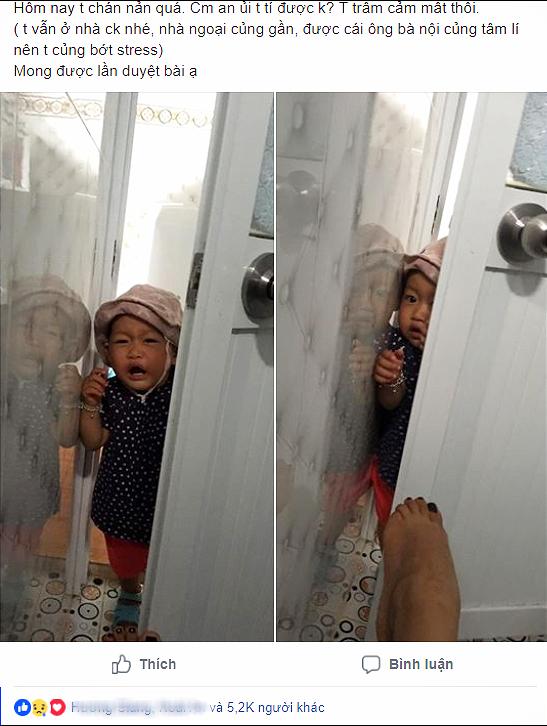 Bức ảnh con gái mè nheo đòi chui vào nhà vệ sinh cùng mẹ tưởng hài hước, nhưng câu chuyện phía sau khiến nhiều người rơi lệ - Ảnh 1.
