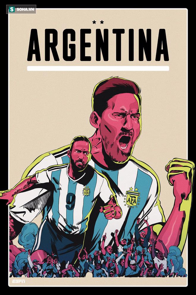 Ronaldo, Messi, Salah đẹp lồng lộng trong bộ poster cổ động World Cup 2018 - Ảnh 1.