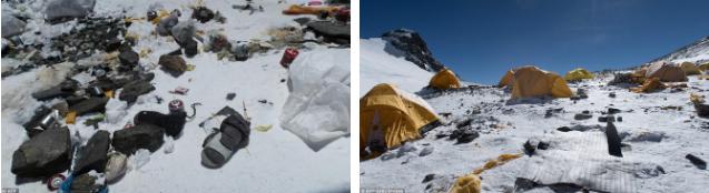 Những hình ảnh gây shock: Đỉnh Everest danh giá giờ đã trở thành bãi rác cao nhất thế giới 2