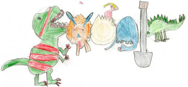 Tác phẩm siêu dễ thương của cô bé lớp một đạt giải thưởng Google Doodle năm nay - Ảnh 1.