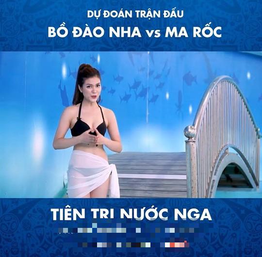 Cận cảnh vẻ nóng bỏng của MC mặc bikini dẫn World Cup gây xôn xao - Ảnh 2.