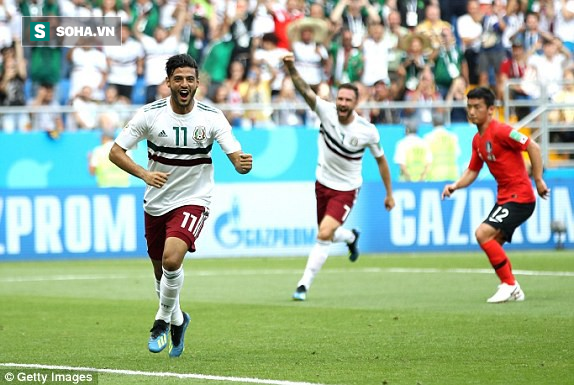 """Mexico đánh bại Hàn Quốc bằng 2 cú đòn chí mạng, đẩy Đức vào thế """"tim đập chân run"""" - Ảnh 1."""