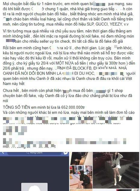 Bỏ 652 triệu đồng mua hàng hiệu, thanh niên 17 tuổi đăng đàn tố bị cô gái 2k1 bán cho toàn đồ fake Quảng Châu - Ảnh 1.