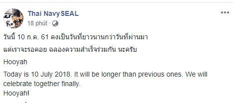 [CẬP NHẬT] HLV và 4 thành viên sẽ được giải cứu trong hôm nay, hải quân Thái Lan hẹn cùng nhau ăn mừng - Ảnh 1.