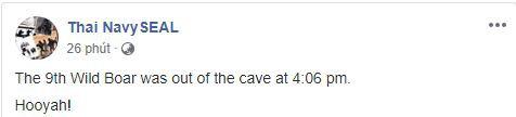 [NÓNG] Cầu thủ nhí thứ 11 đã được giải cứu, khả năng cao tất cả sẽ ra khỏi hang Tham Luang trong chiều nay - Ảnh 1.
