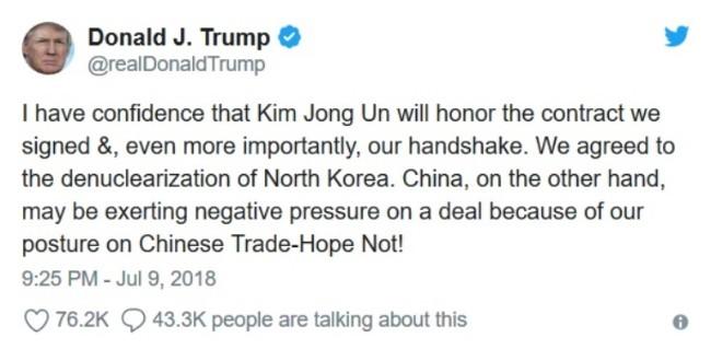 Ông Trump nghi Trung Quốc phá đám đàm phán Mỹ - Triều - Ảnh 1.