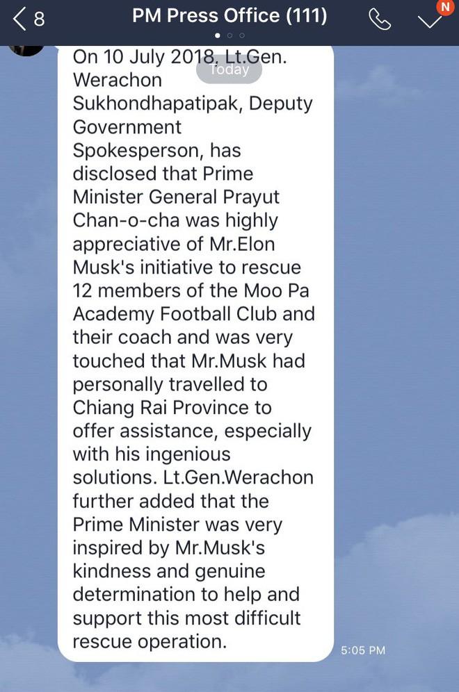 Thủ tướng Thái Lan bày tỏ sự cảm kích trước thiện chí của tỷ phú Elon Musk - Ảnh 1.