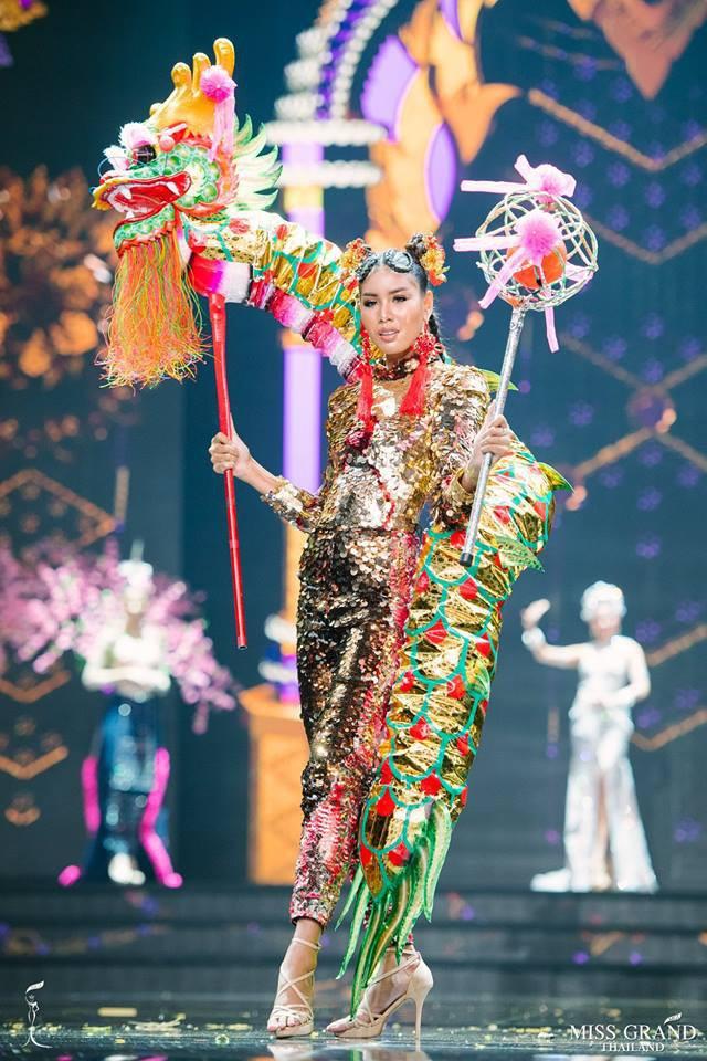 Dàn thí sinh Hoa hậu Hòa bình Thái Lan: Người cưỡi khủng long, kẻ biến thành tô tom yum chua cay trên sân khấu - Ảnh 10.