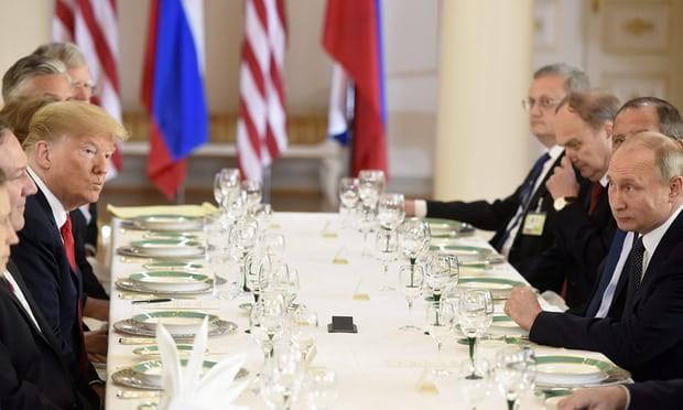 [CẬP NHẬT] Lãnh đạo Nga - Mỹ im lặng trên bàn tiệc sau cuộc gặp 1-1 dài hơi - Ảnh 1.