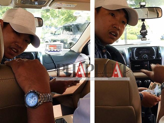 Nơi giấu tờ 500.000 đồng khó ngờ của tài xế taxi dỏm - Ảnh 1.