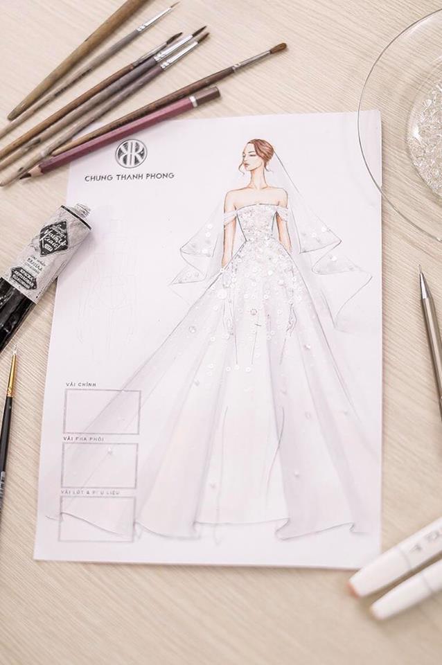 Hé lộ váy cưới lộng lẫy được thiết kế riêng cho Á hậu Tú Anh trong ngày trọng đại - ảnh 1