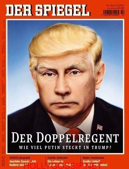Học báo Đức, tạp chí Time đăng hình chân dung kết hợp của ông Trump và ông Putin - Ảnh 3.