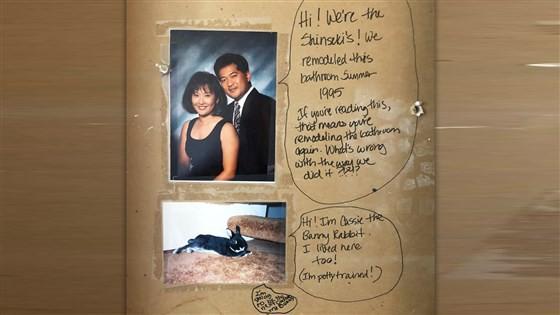 Cải tạo nhà sau 5 năm sinh sống, cặp vợ chồng phát hiện tin nhắn thú vị của chủ cũ đã viết từ 23 năm trước - Ảnh 2.