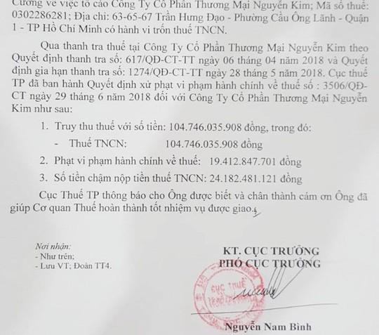 Điện máy Nguyễn Kim bị phạt và truy thu gần 150 tỉ đồng - Ảnh 1.