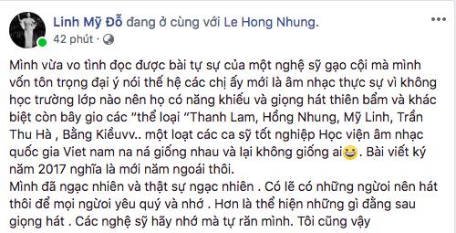 Bị nghệ sĩ gạo cội chê bai, các diva Mỹ Linh, Hà Trần, Hồng Nhung cùng lên tiếng  - Ảnh 2.