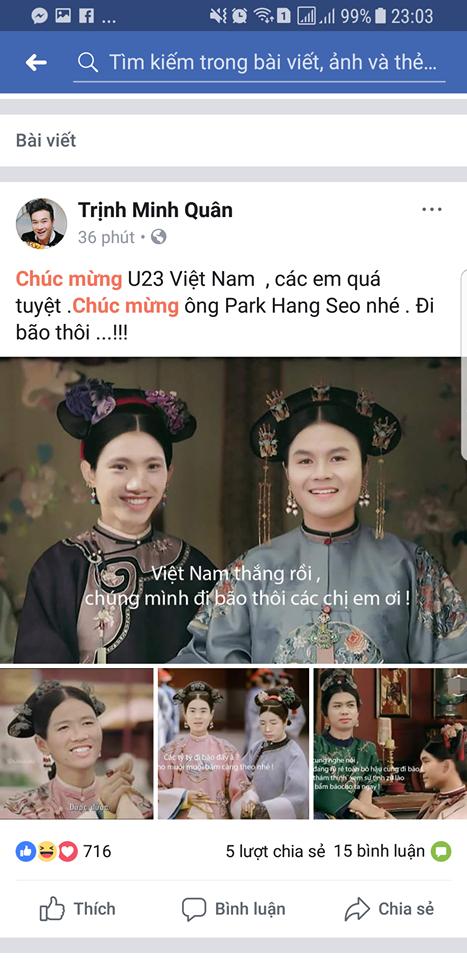 Các sao Việt phát cuồng vì HLV Park Hang và U23 Việt Nam 2