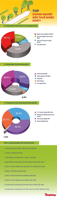 [Infographics] Điều ít biết về Top doanh nghiệp nộp thuế nhiều nhất - Ảnh 1.