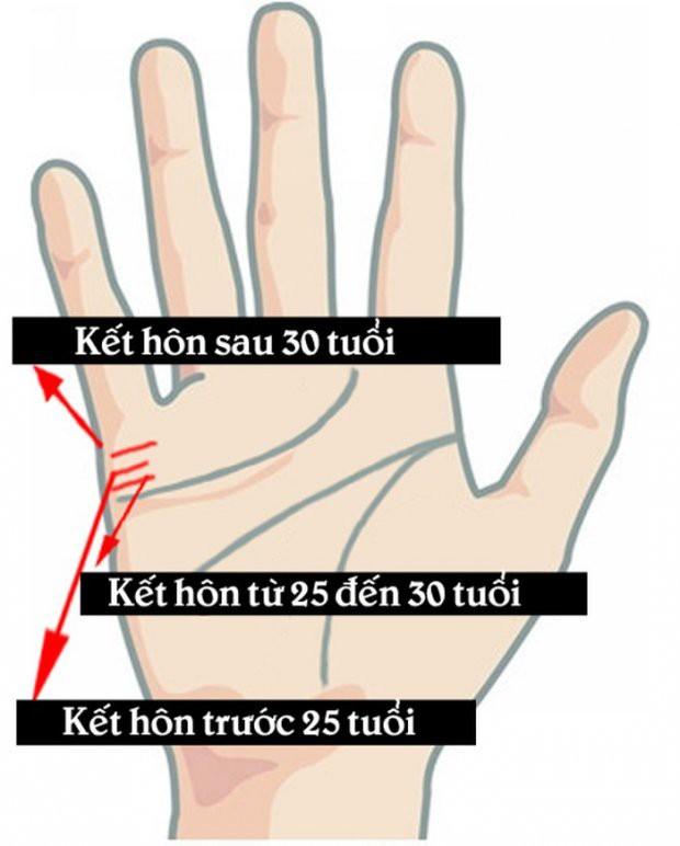 Nhìn đường chỉ tay tình duyên đoán ngay độ tuổi kết hôn của một người - Ảnh 2.
