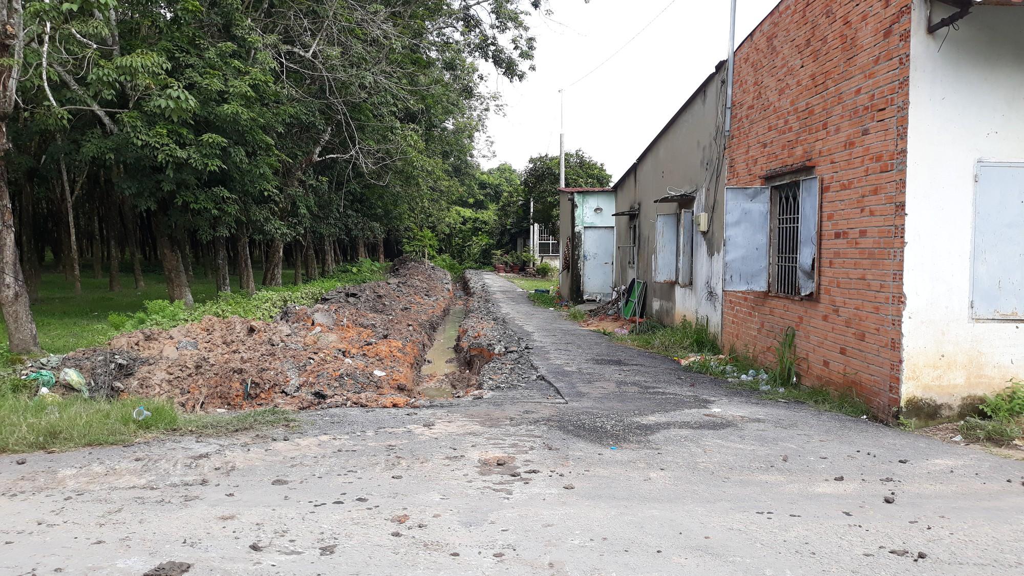 Vụ bỏ 200 triệu làm đường dân sinh: Đường nhựa đã bị phá nham nhở  - Ảnh 8.