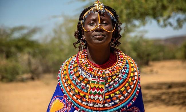 Cộng đồng những người phụ nữ sống cùng nhau tại làng Umoja trên đồng cỏ Samburu, phía bắc Kenya.