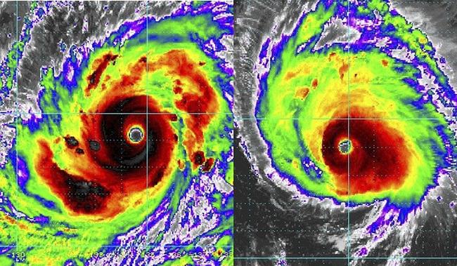 Hình ảnh vệ tinh của siêu bão Mangkhut.