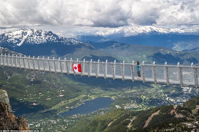 Khám phá                                                          cầu treo vượt                                                          thung lũng cao                                                          nhất Bắc Mỹ -                                                          Ảnh 1.