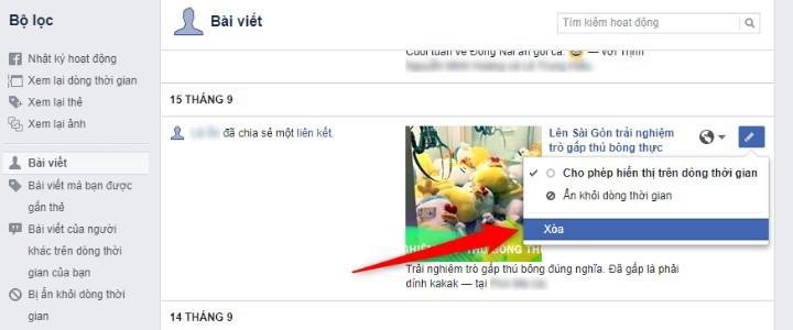 Cách xóa hàng loạt bài viết không mong muốn trên Facebook chỉ với một cú  nhấp