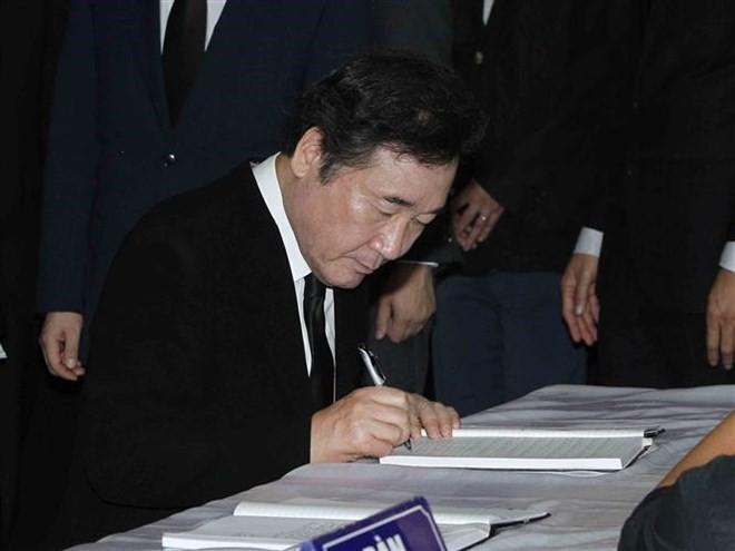 Thủ tướng Hàn Quốc ghi sổ tang: Chủ tịch nước Trần Đại Quang là nhà lãnh đạo cả thế giới tôn trọng - Ảnh 5.