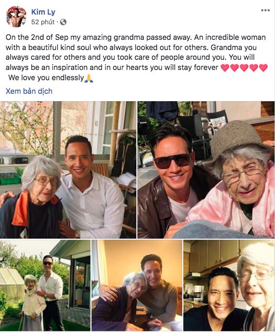 Hà Hồ và bạn bè chia buồn khi hay tin bà ngoại của Kim Lý qua đời tại Thuỵ Điển - Ảnh 1.