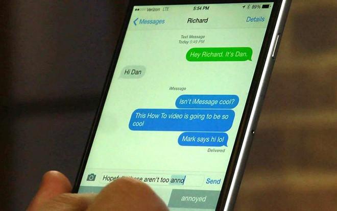 Vì sao nhắn tin trên iPhone khi thì thấy màu xanh lá, lúc lại thấy màu xanh dương? - Ảnh 1.