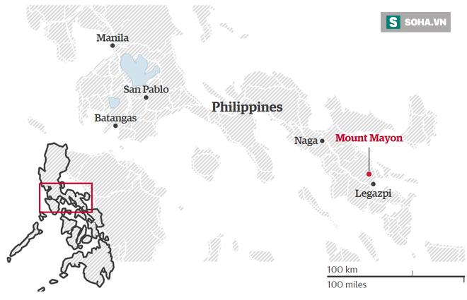 Núi lửa mạnh nhất Philippines sắp phun trào khủng khiếp, 27.000  dân bỏ nhà đi tị nạn - Ảnh 2.