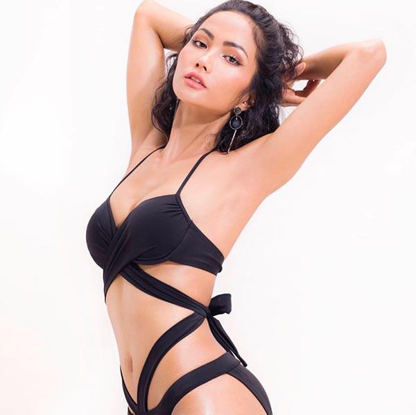 Loạt ảnh bikini nóng bỏng thời để tóc dài của Hoa hậu HHen Niê - Ảnh 2.
