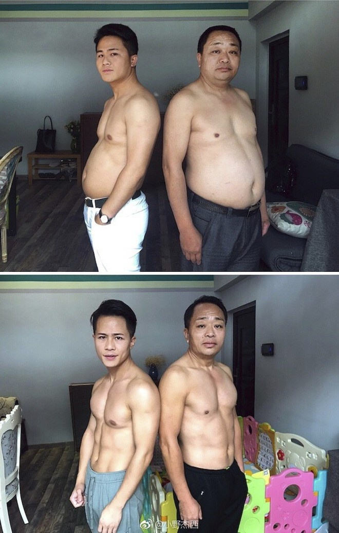 Từ bụng bia hóa cơ bắp, hành trình giảm cân 6 tháng của gia đình này khiến ai nấy đều ngưỡng mộ - Ảnh 2.