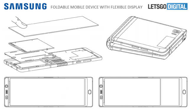 Rò rỉ thiết kế của Galaxy X: Màn hình 7,3 inch, gập đôi lại được như ví - Ảnh 2.