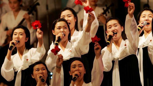 Chùm ảnh: Bóng hồng bí ẩn đại diện cho đội quân sắc đẹp Triều Tiên ở Bàn Môn Điếm