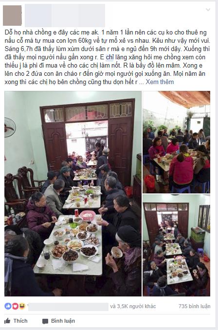 Nàng dâu Hà Nội khoe được ngủ nướng đến 9h sáng dù nhà có giỗ, cộng đồng mạng tranh cãi - Ảnh 1.
