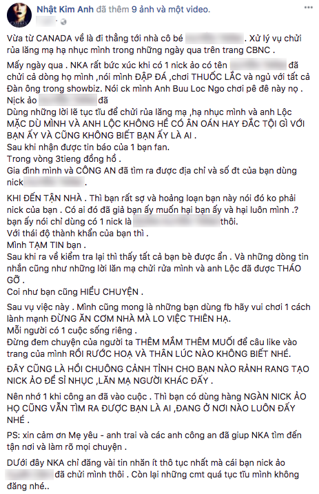 Nhật Kim Anh bức xúc tìm đến nhà anti-fan khi bị tố đập đá, chơi thuốc lắc, ngủ với tất cả đàn ông showbiz - Ảnh 2.
