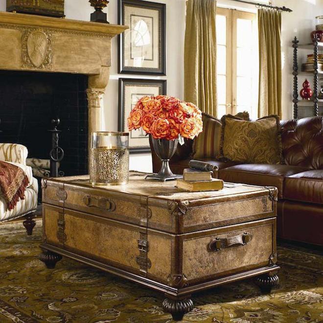 Không ngờ những chiếc vali cũ lại có thể giúp cho phòng khách đẹp đến như vậy - Ảnh 3.