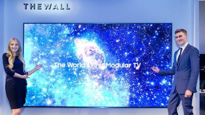 Tivi siêu khủng Micro LED 146 inch của Samsung tại CES2018