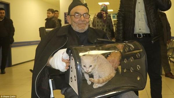 Tình bạn thiêng liêng giữa ông lão và chú mèo nhỏ: Nhà có thể cháy nhưng mèo thì không thể mất - Ảnh 3.