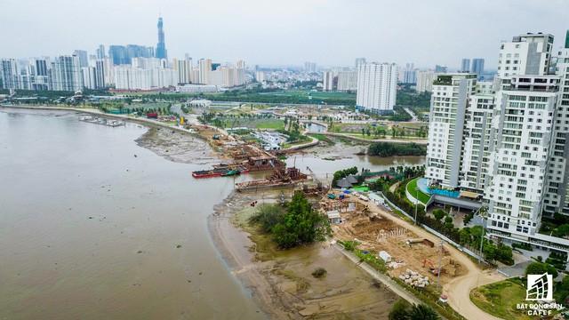 Cận cảnh cây cầu qua đảo Kim Cương đang khiến bất động sản quận 2 tăng giá - Ảnh 3.