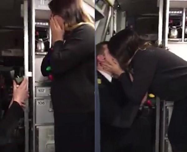 'Rụng tim' trước màn cầu hôn của chàng phi công nhút nhát ngay trên máy bay - Ảnh 4.