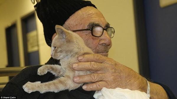 Tình bạn thiêng liêng giữa ông lão và chú mèo nhỏ: Nhà có thể cháy nhưng mèo thì không thể mất - Ảnh 4.