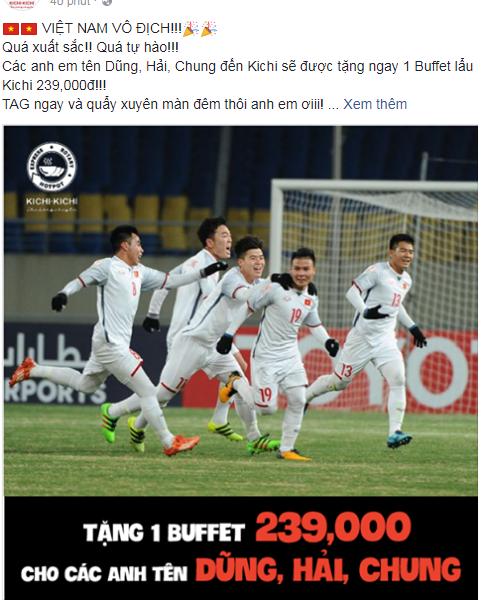 Nhiều cửa hàng chơi lớn khi free toàn bộ ăn mừng chiến thắng U23 Việt Nam  - Ảnh 5.