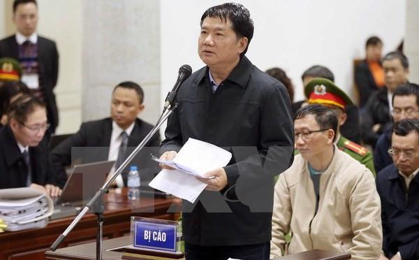 Chiều 16/1: Ông Đinh La Thăng xin cho các bị cáo nhóm