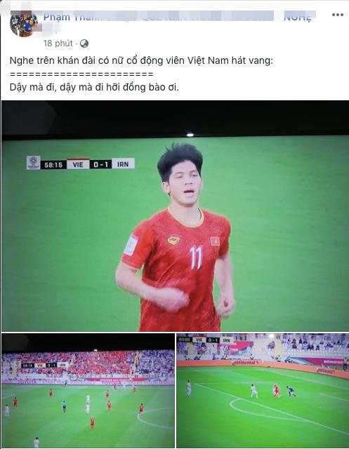 Dậy mà đi hỡi đồng bào ơi, câu hát được chia sẻ liên tục sau trận đấu giữa Việt Nam - Iran - ảnh 4